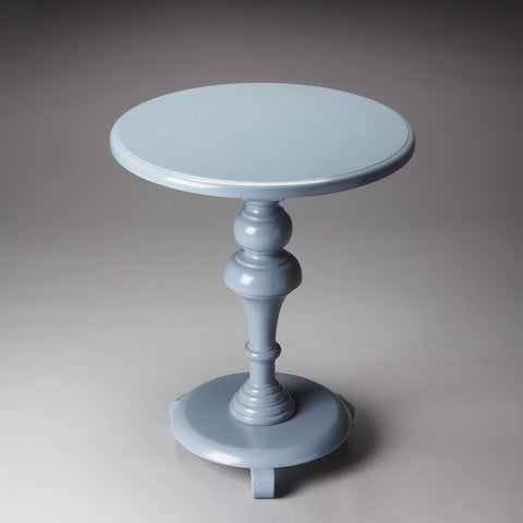 Butler Nicolet Glossy Wedgewood Pedestal Table 2213305-Accent Table-Floor Mirror Gallery