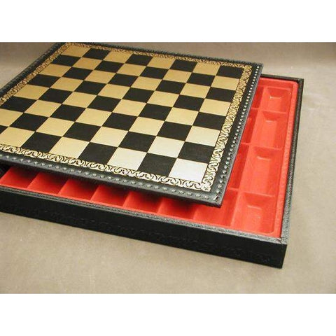"17"" Pressed Leather Chest, Ital Fama, Italy, 221GN, by WorldWise Imports-Chess Board-Floor Mirror Gallery"