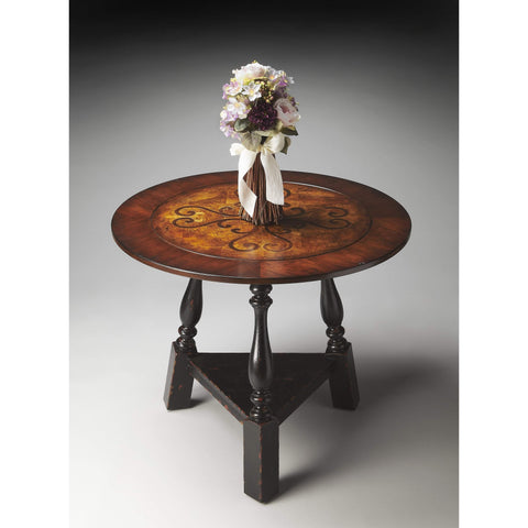 Butler Charlton Round Inlay Foyer Table 2244283-Foyer Tables-Floor Mirror Gallery