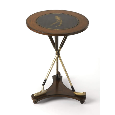 Butler Nineteenth Hole Round Golf Accent Table 2302070-Accent Table-Floor Mirror Gallery