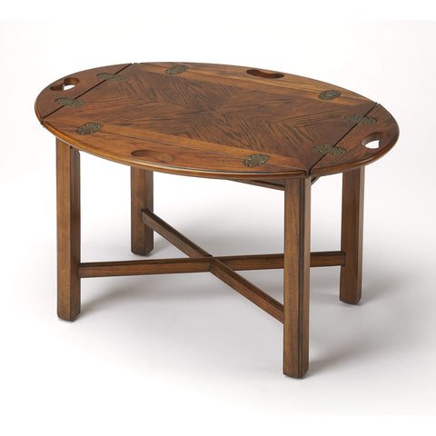 Butler Carlisle Vintage Oak Butler Table 2427001-Cocktail Tables-Floor Mirror Gallery