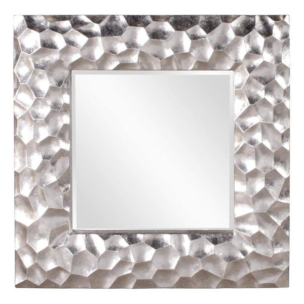 Howard Elliott Marley Silver Mirror 39H x 39W x 2D - 25092-Wall Mirror-Floor Mirror Gallery