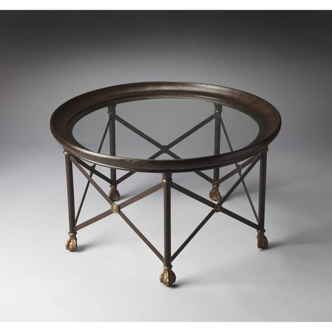 Butler Richton Glass And Metal Coffee Table 2626025-Cocktail Tables-Floor Mirror Gallery