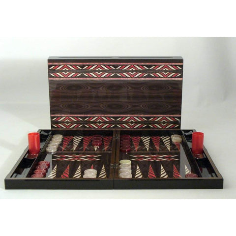 Red & Ivory Native Design , 26502, by WorldWise Imports-Backgammon-Floor Mirror Gallery