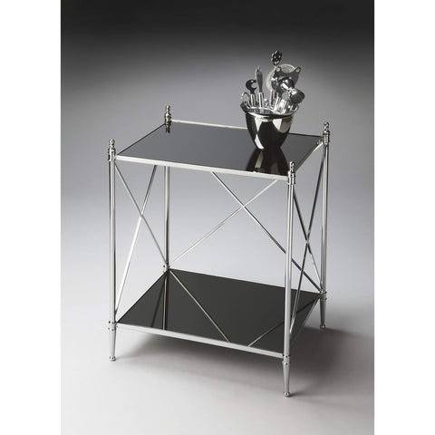 Butler Deidre Glass & Metal End Table 2862220-Accent Table-Floor Mirror Gallery