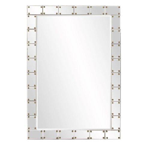 Howard Elliott Remington Studded Mirror 39H x 27W x 1D - 29006-Wall Mirror-Floor Mirror Gallery