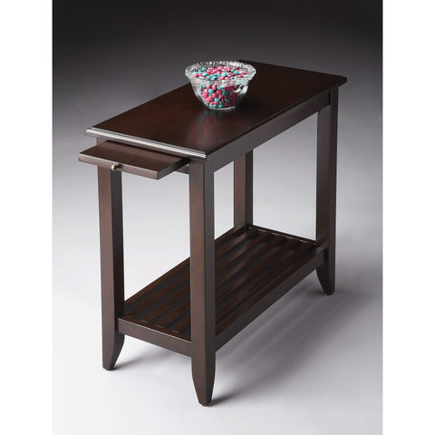 Butler Irvine Merlot Chairside Table 3025022-Chairside Chests-Floor Mirror Gallery