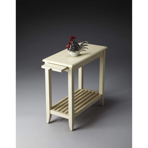 Butler Irvine Cottage White Chairside Table 3025222-Chairside Chests-Floor Mirror Gallery