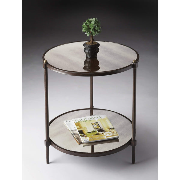 Butler Peninsula Mirrored Side Table 3048025-Accent Table-Floor Mirror Gallery
