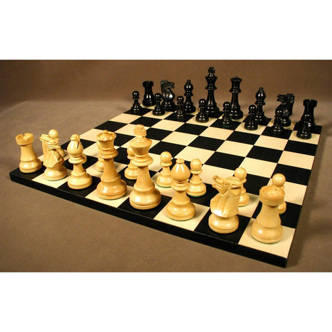 Small Black French Chess Set, WW Chess, India-Spain, 30BF-BB, by WorldWise Imports-Chess Set-Floor Mirror Gallery