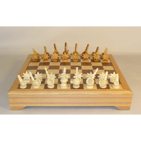 Mary Jane Tagua Nut on Beechwood Chest, WW Chess, Ecuador-China, 30MJT-ICT, by WorldWise Imports-Chess Set-Floor Mirror Gallery