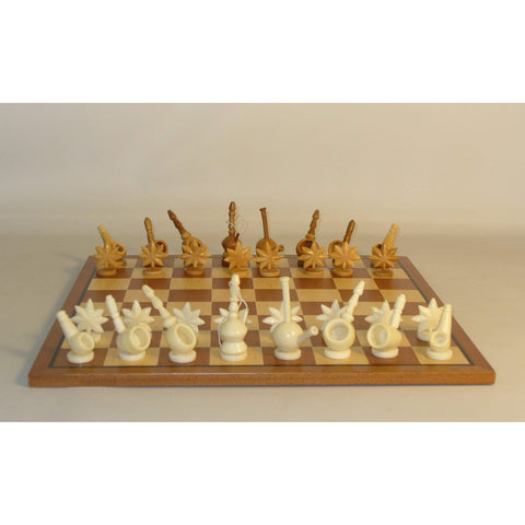Mary Jane Tagua Nut on Sapele Board, WW Chess, Ecuador-China, 30MJT-SM, by WorldWise Imports-Chess Set-Floor Mirror Gallery