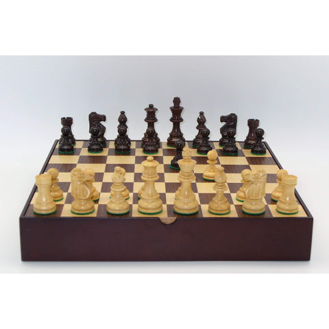 Rosewood Lardy Walnut Chest, WW Chess, India-China, 30RL-WCT, by WorldWise Imports-Chess Set-Floor Mirror Gallery