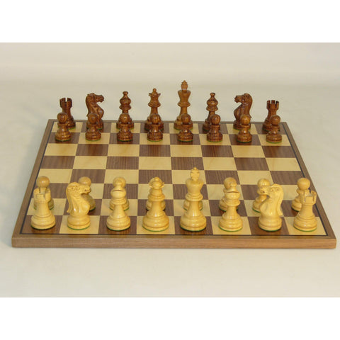 Shshm Amer. Emperor on Walnut Brd, WW Chess, India-China, 30SAE-WC, by WorldWise Imports-Chess Set-Floor Mirror Gallery