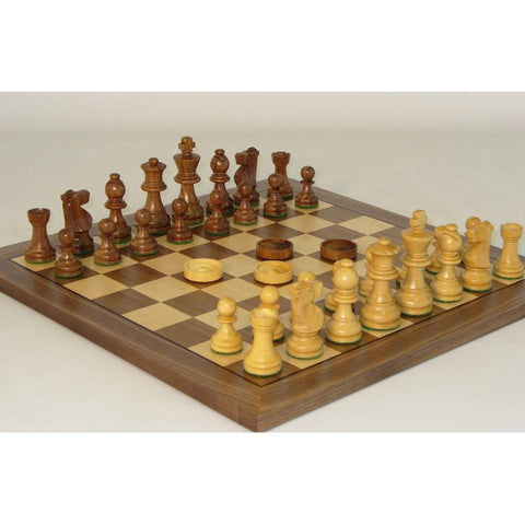 Chess & Checker Set, WW Chess, India-China, 30SF-35-14, by WorldWise Imports-Chess & Checkers-Floor Mirror Gallery
