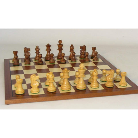 Small Sheesham French-Sapele Set, WW Chess, India-China, 30SF-SM, by WorldWise Imports-Chess Set-Floor Mirror Gallery