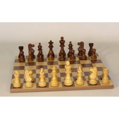 Small Shshm French-Walnut Basic Brd, WW Chess, India-China, 30SF-WB, by WorldWise Imports-Chess Set-Floor Mirror Gallery
