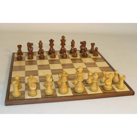 Small Shshm French-Walnut Brd, WW Chess, India-China, 30SF-WC, by WorldWise Imports-Chess Set-Floor Mirror Gallery