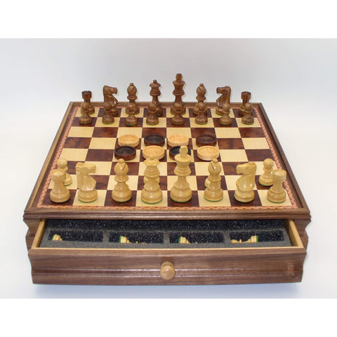 Sheesham men & Checkers in Chest, WW Chess, India-China, 30SF-WM-35, by WorldWise Imports-Chess & Checkers-Floor Mirror Gallery