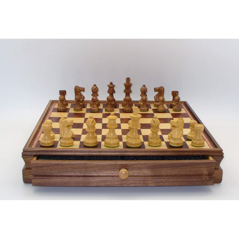 Sheesham French in Chest w/drawer, WW Chess, India-China, 30SF-WM, by WorldWise Imports-Chess Set-Floor Mirror Gallery