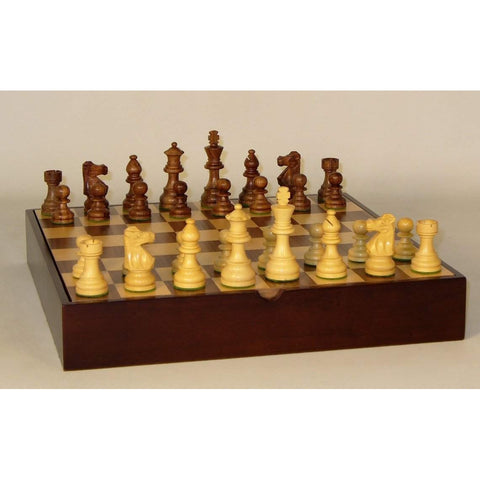 Small Lardy-Walnut Maple Chest, WW Chess, India-China, 30SL-WCT, by WorldWise Imports-Chess Set-Floor Mirror Gallery