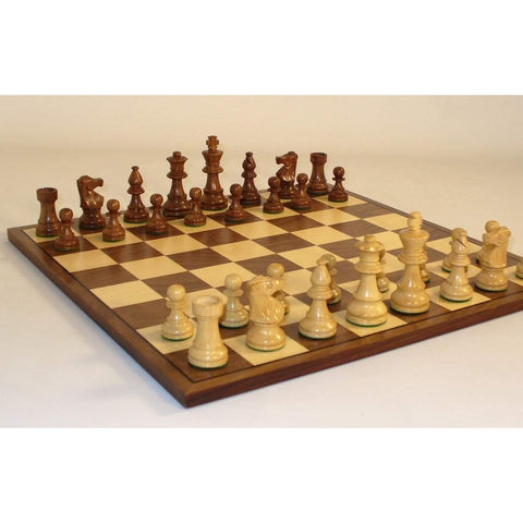 Small Lardy-Walnut Brd, WW Chess, India-China, 30SL-WC, by WorldWise Imports-Chess Set-Floor Mirror Gallery