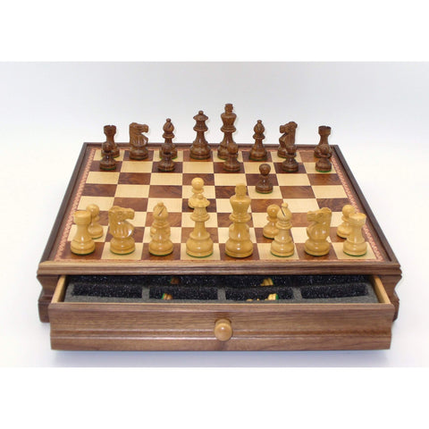 small Lardy - wood drawer chest, WW Chess, India-China, 30SL-WM, by WorldWise Imports-Chess Set-Floor Mirror Gallery