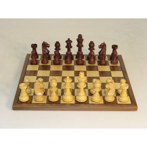Walnut Stain German on Walnut Brd, WW Chess, India-China, 30WG-WC, by WorldWise Imports-Chess Set-Floor Mirror Gallery