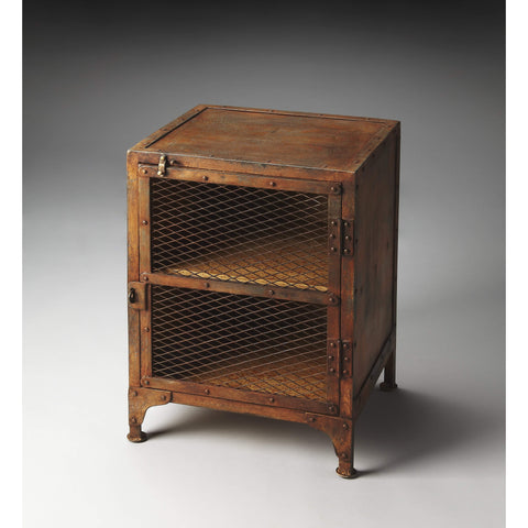 Butler Lucas Industrial Chic Chairside Chest 3132025-Chairside Chests-Floor Mirror Gallery
