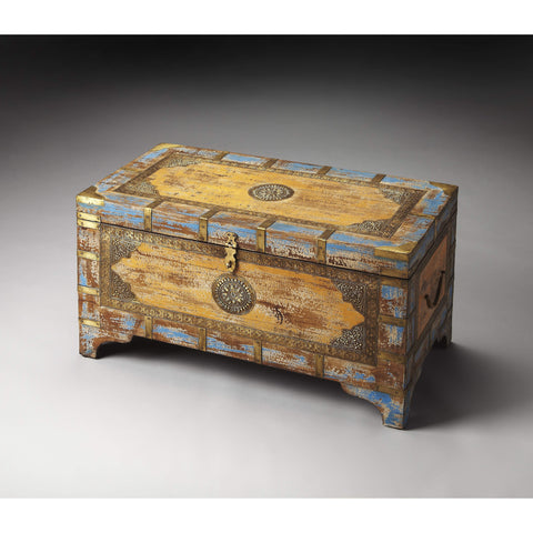 Butler Nador Painted Brass Inlay Storage Trunk 3365290-Cocktail Tables-Floor Mirror Gallery