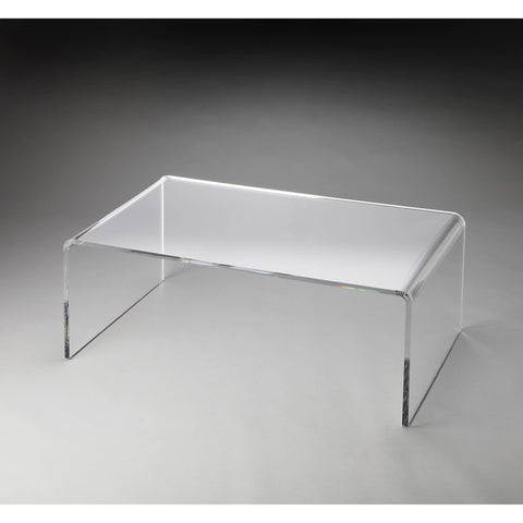 Butler Crystal Clear Acrylic Coffee Table 3398140-Cocktail Tables-Floor Mirror Gallery