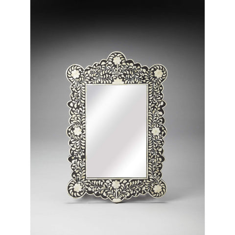 Butler Bone Inlay Wall Mirror 3482318-Wall Mirror-Floor Mirror Gallery