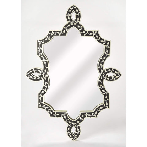 Butler Haifa Black Bone Inlay Wall Mirror 3484318-Wall Mirror-Floor Mirror Gallery