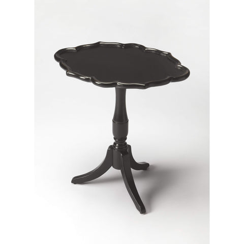 Butler Higgins Black Licorice Oval Pedestal Table 3504111-Accent Table-Floor Mirror Gallery