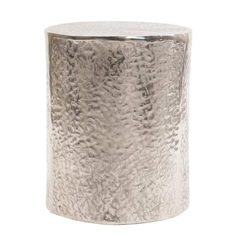 Howard Elliott Textured Aluminum Side Table 19H x 15W x 15D - 35075-Accent Table-Floor Mirror Gallery
