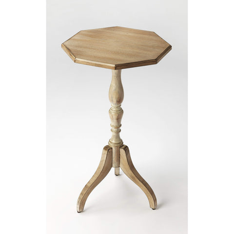 Butler Archambault Driftwood Octagonal Pedestal Table 3513247-Accent Table-Floor Mirror Gallery