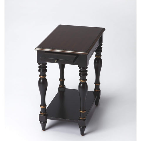 Butler Fabia Café Noir Chairside Table 3518104-Chairside Chests-Floor Mirror Gallery