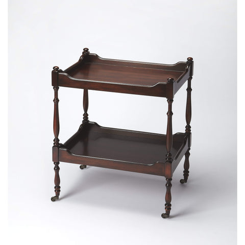 Butler Rayburn Plantation Cherry Serving Cart 3523024-Serving Tables-Floor Mirror Gallery