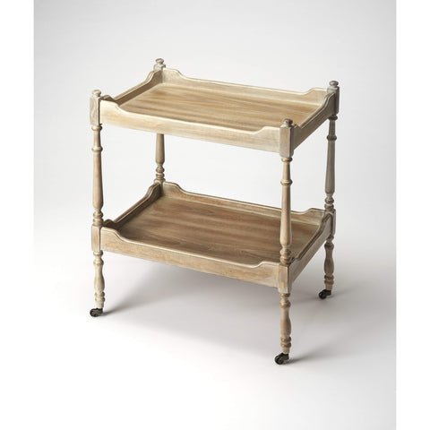 Butler Rayburn Driftwood Serving Cart 3523247-Serving Tables-Floor Mirror Gallery