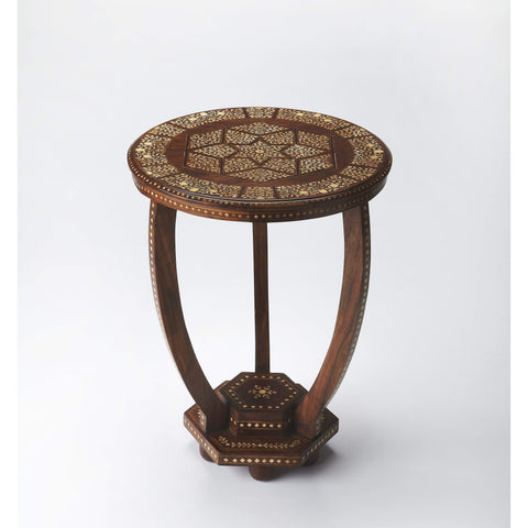 Butler Rashmi Wood & Bone Inlay Accent Table 3583338-ACCENT TABLE-Floor Mirror Gallery