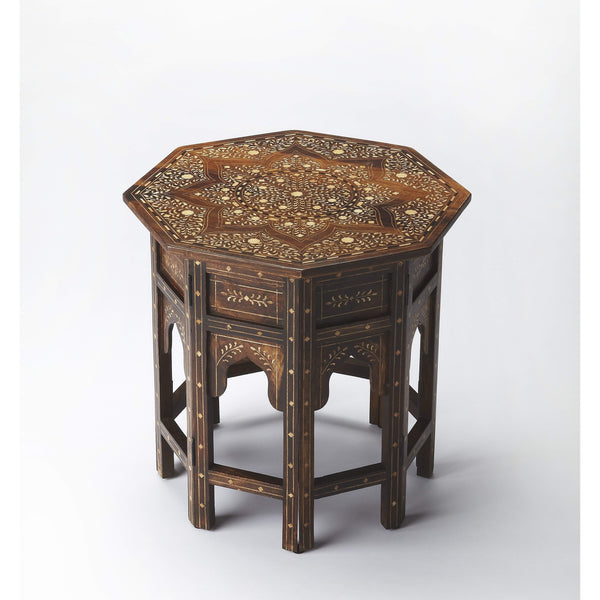 Butler Rashmi Wood & Bone Inlay Accent Table 3596338-Accent Table-Floor Mirror Gallery