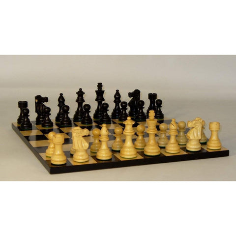 Medium Black French on Basic Board, WW Chess, India-China, 35BF-BB, by WorldWise Imports-Chess Set-Floor Mirror Gallery