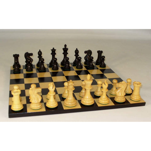 Medium Blk New Classic on Blk-Maple Brd, WW Chess, India-China, 35BNC-BB, by WorldWise Imports-Chess Set-Floor Mirror Gallery