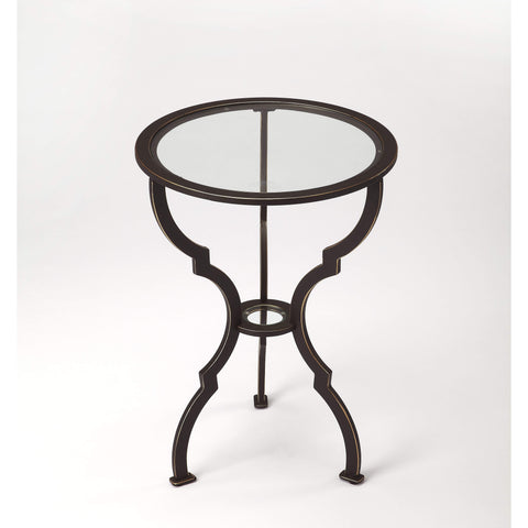 Butler Yvonne Metal End Table 3666025-ACCENT TABLE-Floor Mirror Gallery