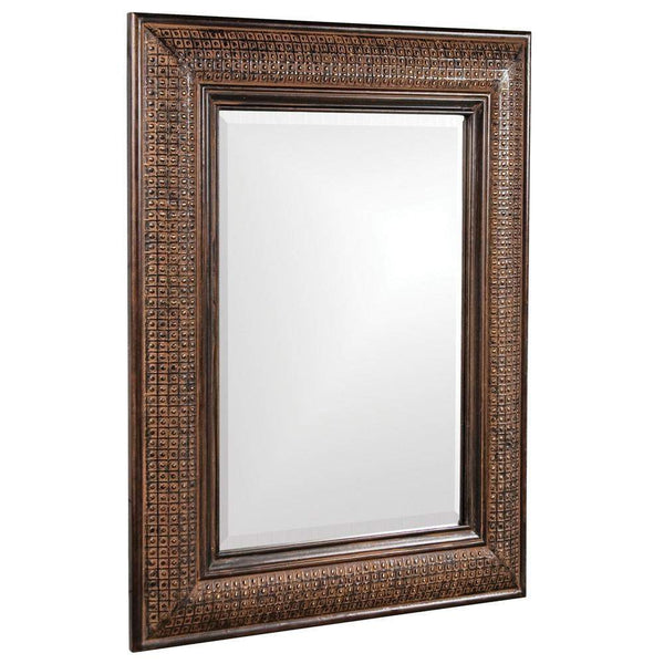 Howard Elliott Grant Antique Brown Mirror 39H x 31W x 2D - 37045-Wall Mirror-Floor Mirror Gallery