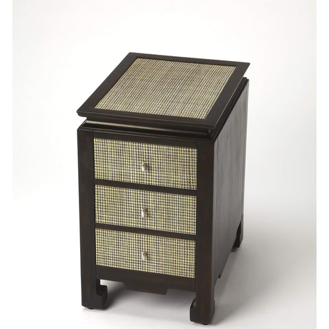 Butler Boracay Raffia Chairside Table 3707350-Chairside Chests-Floor Mirror Gallery