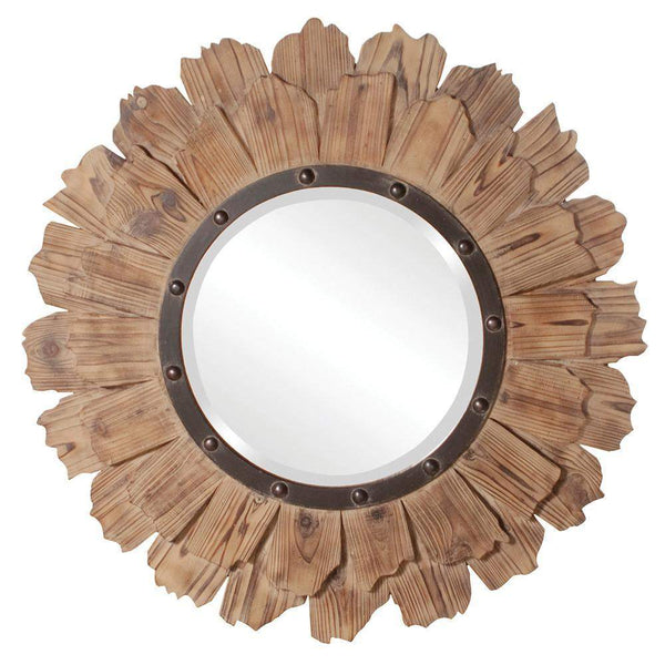 Howard Elliott Hawthorne Round Mirror 35H x 35W x 2D - 37075-Wall Mirror-Floor Mirror Gallery