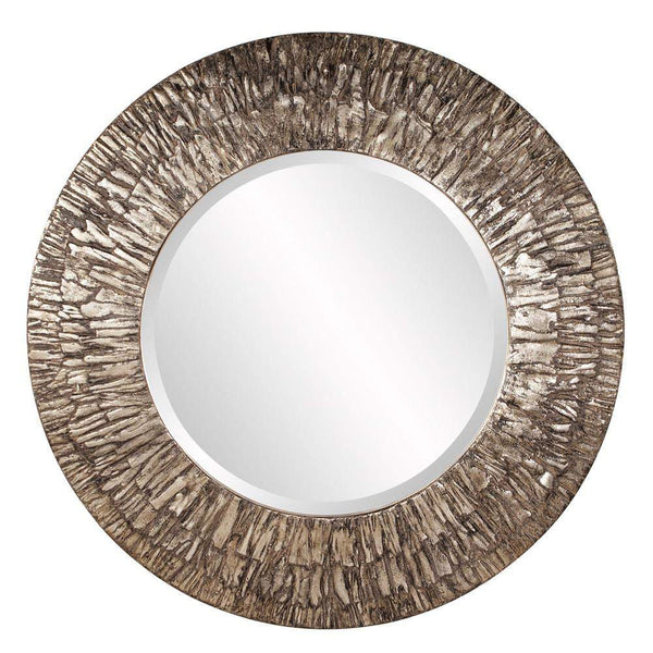 Howard Elliott Linden Round Mirror 36H x 36W x 2D - 37151-Wall Mirror-Floor Mirror Gallery
