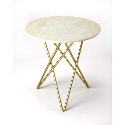 Butler Quantum White Marble Bunching Table 3775389-ACCENT TABLE-Floor Mirror Gallery
