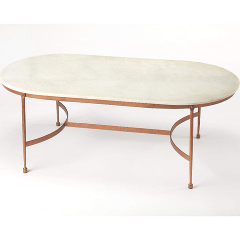 Butler Legionary White Marble Coffee Table 3778389-Cocktail Tables-Floor Mirror Gallery